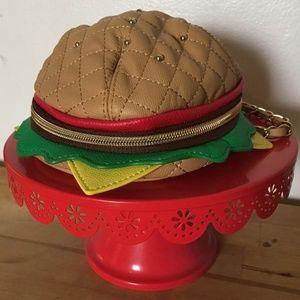 NWT BETSEY JOHNSON Burger Handbag Purse Wristlet